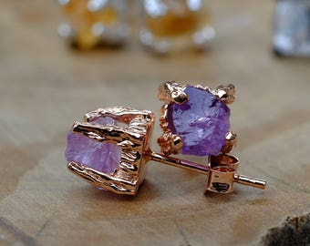 stone dp amethyst banded earrings com dangling amazon