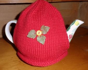 Christmas Tea Cosy : Festive 100% hand- knitted.