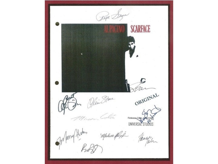 Scarface Movie Script Signed Autographed: Al Pacino Oliver