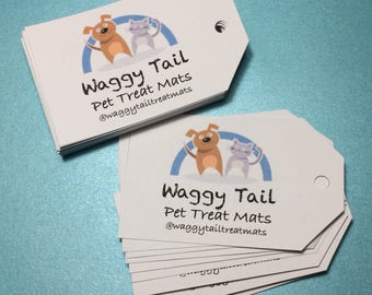 40 Card tags 10 x 6 cm for gifts, business packaging with your logo tie on