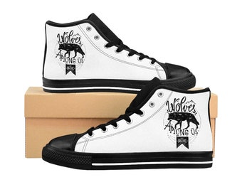 Wolves Among Us, Mens HighTop Sneakers