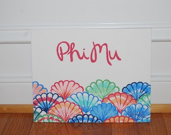 Lilly Pulitzer- inspired sorority canvas