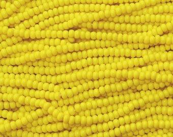 6/0 Opaque Light Yellow Czech Glass Seed Bead Strand (CW102) SE
