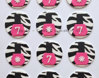 Fondant Cupcake Toppers - Spa Party