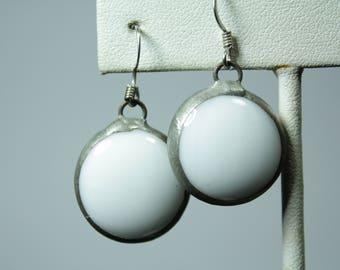 White Jewel Earrings