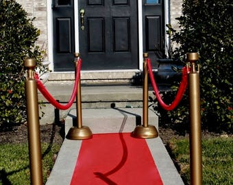 Hollywood Red Aisle & Event Runner! 50' or 100'  Long ~ Puncture Resistant!  Oscars! Academy Awards  ~ Premiers ~ Movie Star Party