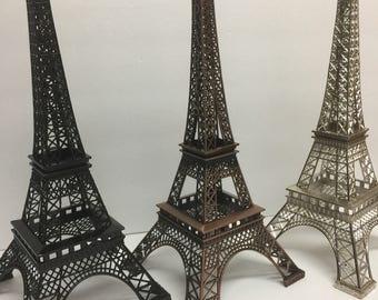 "15"" Eiffel tower topper, Tower Eiffel supplies, wedding decor, wedding favors, shower favors, top cake paris, top cake Eiffel tower"