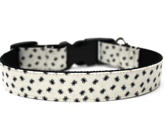 """Spider Dog Collar 3/4"""" or 1""""  Halloween Dog Collar Matching Bow Available"""