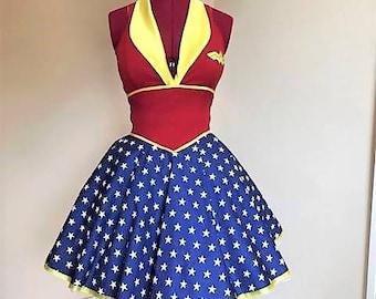 Wonder Woman dress , MADE TO MEASURE!!