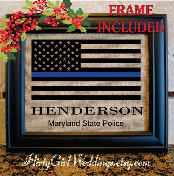 Police officer Christmas gift thin blue line gifts for