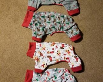 Christmas winter knit Pet Pajamas