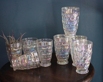 Federal Glass Iridescent Tumblers - pick of small or large