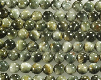 Eagle's Eye Gemstone Beads 8mm - 16 Inch Strand