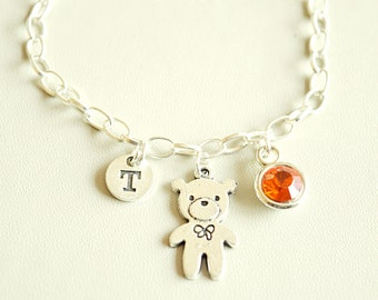Teddy Bear Bracelet, Teddy Bear Jewelry, Teddy Bear Gifts, Teddy Bangle Gifts, Girlfriend Gift, Love, Teddy, Cool, Unique, Funky, Girls