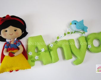 Snow White door sign (name banner)