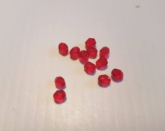 Faceted 4MM Ruby Red 1