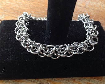 Stainless Steel Elf Weave Chainmaille Bracelet, Chainmaille Jewelry