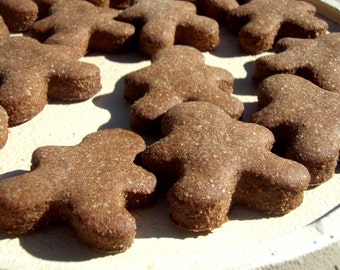 Dog Treats - GINGERBREAD MEN Gourmet Dog Treats Organic All Natural Vegetarian - Shorty's Gourmet Treats