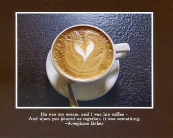 Josephine Baker quote - photo card