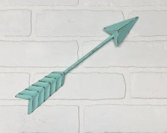 Arrow Wall Decor/Aqua/Arrow/Metal Arrow/Bohemian Decor/Arrow/Arrows/Tribal/ Indian/ Southwest/Arrow Art/Trendy/Boho