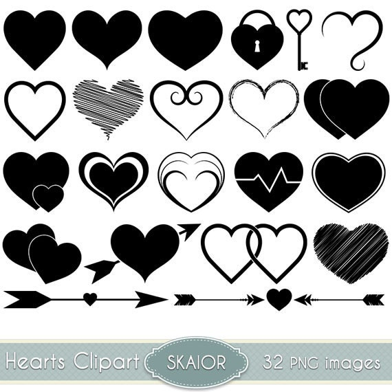 Hearts clipart vector hearts clip art heart silhouette clipart stopboris Choice Image