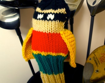Robin, Batman and Robin, Golf Club Cover, Golf Headcover, Golf Head Cover, Custom, Knit, Gifts for Golfers, Superhero