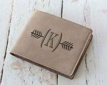 Engraved Leather Wallet Groomsmen Gifts Fathers Day Gift Custom Leather Wallet Bifold Wallet #DownInTheBoondocks