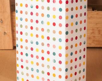 Watercolor Polka Dot / Gift Wrap 12 Sheets