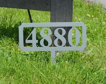 Rectangular Address Stake
