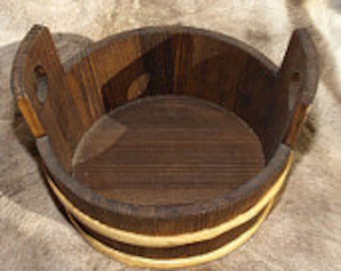 Wooden Tub / Water Bucket - 13 Litre