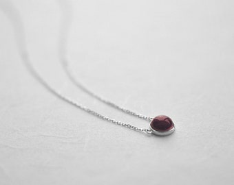 Red-glaze ceramic necklace,Sterling silver necklace 18K rose gold necklace Ruby necklace Red jewellery Chic necklace Birthday gift-boohua