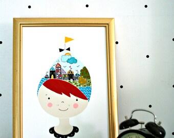 Print- Town Hat-