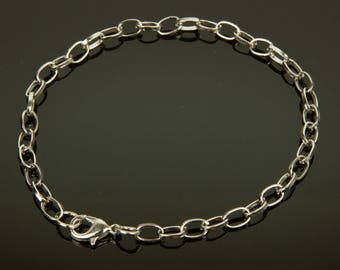 Platinum color chain bracelet