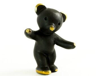 "Walter Bosse Bear - Brass ""Black Gold"" Dancing Bear Figurine — ""Bär"""
