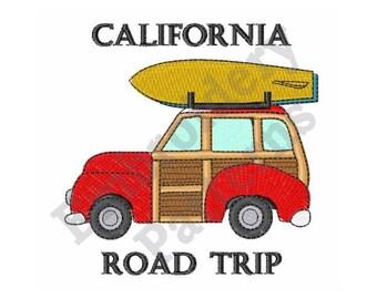 California Road Trip - Machine Embroidery Design
