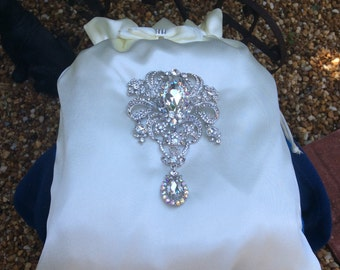 Wedding Dance Bag, Bridal Bags, Large Money Bags, Satin Bags, Beach Wedding