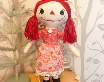 Cindy Lou - Rag Doll - Raggedy Ann - Cloth Doll
