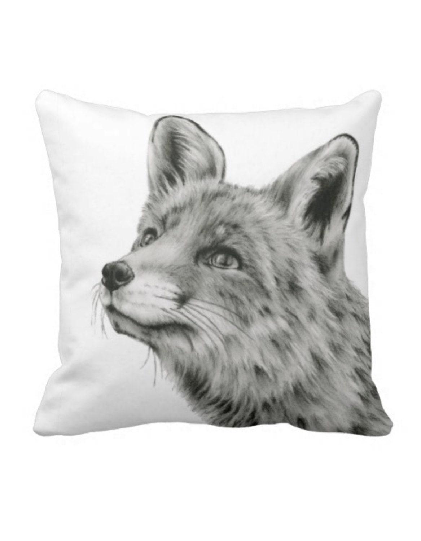 fox front pillows pillow mejmej product woodland foxpillow