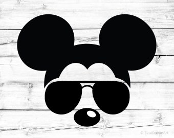 Mickey Mouse Svg Disney Svg Sunglasses Svg Aviators Svg Glasses Svg Mickey Mouse Silhouette Mickey Mouse Head Svg for Cricut Svg Silhouette