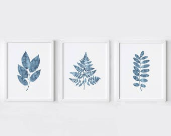 Botanical Art - Botanical print set - botanical prints - botanical wall art - botanical printables - set of three prints - christmas gift