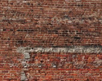 Brick Wall/Digital Backdrop/Brick Wall Texture/Digital Background/Grunge Brick Wall/Background Stock/Instant Download