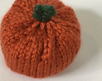 Knt Pumpkin, small knit pumpkin, fall decor, imagination play
