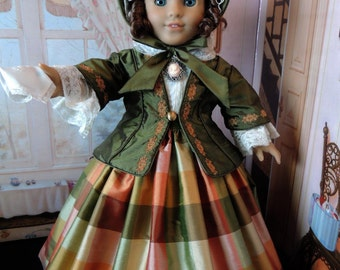 RESERVED: 1850's Dress for American Girl Marie-Grace or Cecile