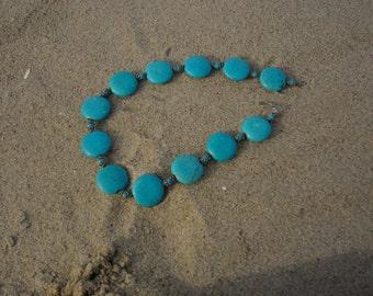 Turquoise Disc Necklace