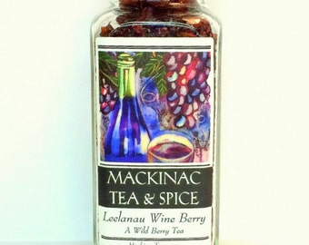 LEELANAU WINE BERRY- A Wild Berry Iced Tea cooler/ great Sangria Base for Summer cocktails