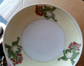 Sale-Vintage Handpainted Signed Selesia Plate