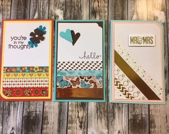 Handmade cards, wedding, sympathy, hello, all occasion, thinking of you