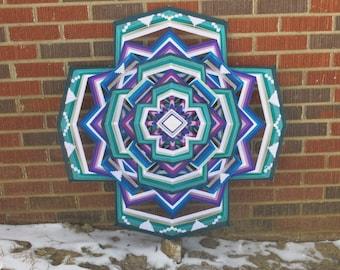 Eye of the Storm, a 36-inch, 12-sided mandala by Inga Savage