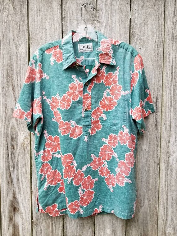 Vintage Mens Button Down Collared Hawaiian shirt button down 80's 60's 70's Henley skcnU5fmfU