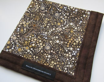 EDC Hank Circles in Shades of Brown Handmade Hank Everyday Carry Hank Mens Handkerchief Gift for Him Gift for Her